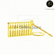 Gold Plate Abacus Travel Keychain Fortune Feng Shui Christmas Gift Yin Yang