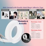 Multifunction Magic Strong Adhesive Tape Sticky Double Sided Washable Reusable Traceless Indoor Outdoor Gel Nano Tape
