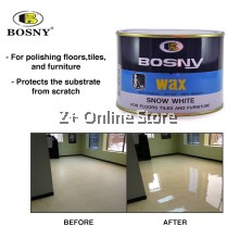 BOSNY Floor Wax Marble Stone Furniture Anti Slip Dry Polish Care Tile 400g (ONLY FOR WEST MALAYSIA)