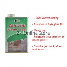 BOSNY Acrylic Water Seal House Care Safety Waterproof Wood Brick Stone B263 1 LITER [ONLY FOR WEST MALAYSIA]