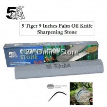 5 TIGER 9 Inches Palm Oil Knife Sharpening Stone Knife Sharpener Kitchen Tools