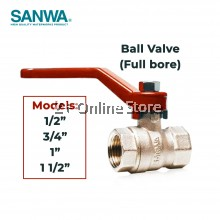 """SANWA Brass Ball Valve (Full Bore) Faucet Water Tap Model BV 1/2"""" inch /3/4"""" inch / 1"""" inch / 1 1/2"""" inches"""