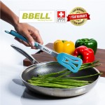 [Switzerland] BBELL Kitchen Tongs Silicone BBQ Food Clips Tongs Kitchen Heat Resistant Steak Clip Cooking Tongs