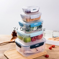 [Switzerland] BBELL Easy Essentials 5 Pieces Container Set of 5 Pcs BPA Free Lockable Airtight Fresh Food Storage Microwave Lunch Box