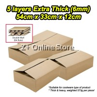 [5 layers BA Flute] 6mm Extra Thick Large Packaging Box Carton Box for Cookware Set Packing Box Paper Boxes Kotak