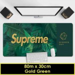SUPREME Large Gaming Mouse Pad Minimalist Design Gold Green Scandinavian Nordic Design Mousepad for Office & Home Use