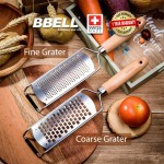 [From Swiss] BBELL Fine & Coarse Grater Set of 2 Peelers Fruit Vegetable Cutter Slicers Shredders Food Choppers