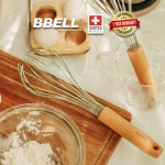 [From Swiss] BBELL Easy Clean Whisk Stainless Steel Egg Beater Hand Whisk Baking Whisk  Mixer Kitchen Tools