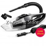 Z PLUS Dual Use 6 in 1 Portable Handheld Car Vacuum Cleaner 120W 5m 12V (Black)